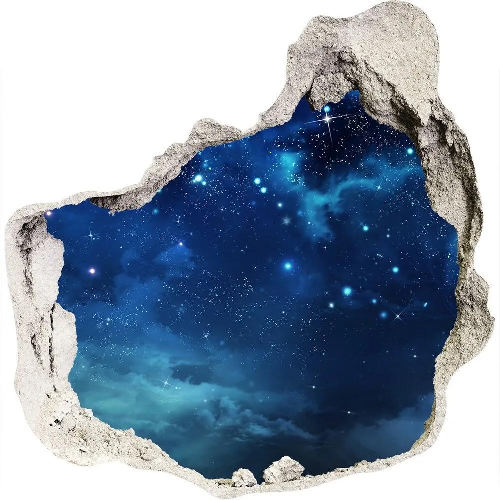 Autocolant 3D gaura cu priveliște Cer înstelat