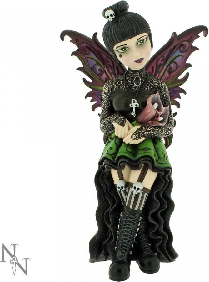 Statueta zana gotica Little Shadows Orchid 16 cm