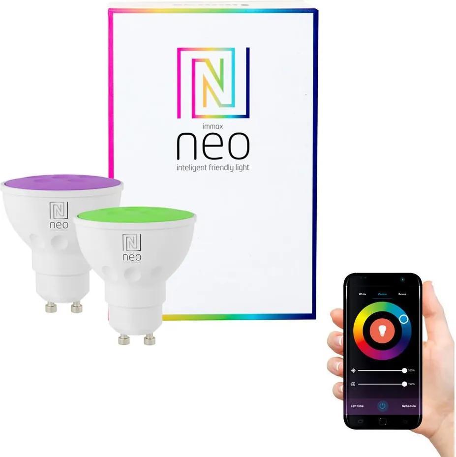 Immax NEO - 2xBec dimmabil LED RGB GU10/3,5W/230V ZigBee