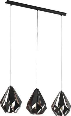 Lustra Carlton1 E27 max. 3x60W, negru