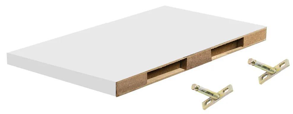 Polita perete cu suport fixare ascuns, 30x19x1.8 cm, Alb