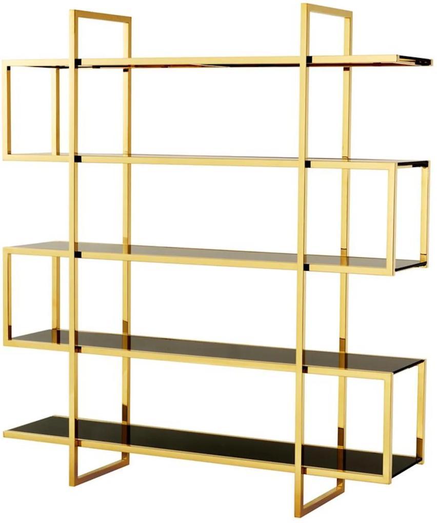 Biblioteca din metal Sotto Cabinet Gold | EICHHOLTZ