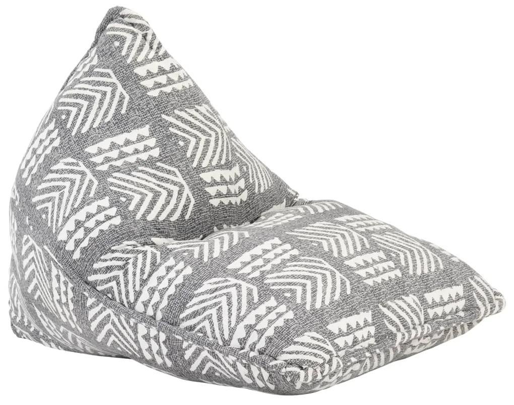 287728 vidaXL Canapea tip sac, gri, material textil, petice