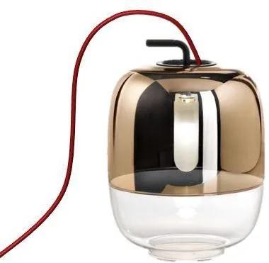 Gong T3 II - Lampă de masă aurie din sticlă