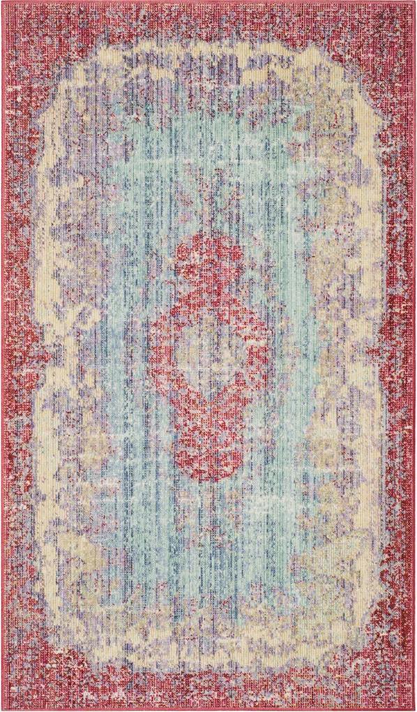 Covor Oriental & Clasic Rocklin, Albastru/Mov, 91x152