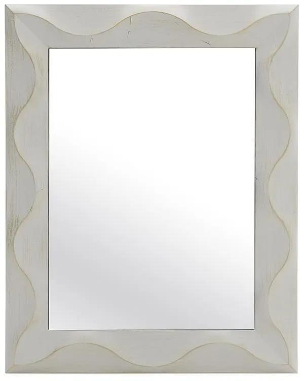 Oglinda de perete Antique White-Gold 75 cm