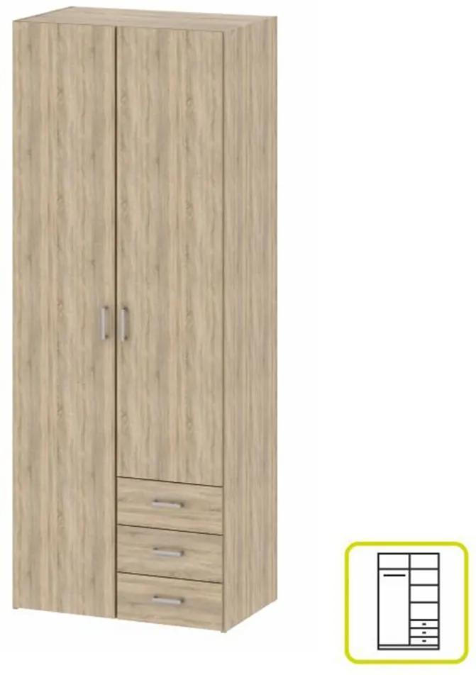 Dulap, 2 uşi, stejar sonoma, GWEN 70425