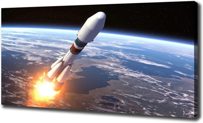 Pictură pe pânză Rachetă spațială