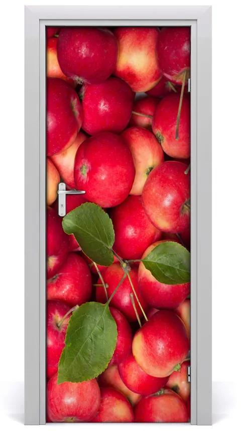 Autocolante pentru usi mere roșii