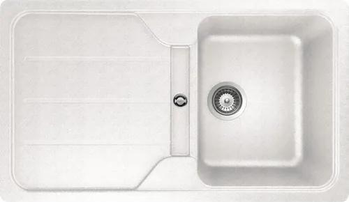 Chiuveta bucatarie cu o cuva Teka Simpla 45 B S-TG, 78x50 cm, reversibila, tegranit alb