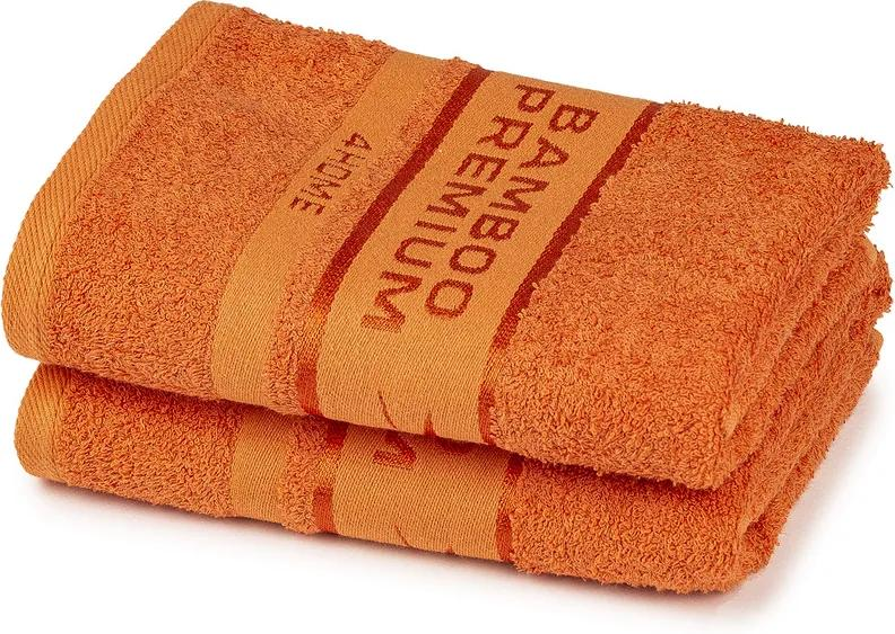 Set 2 prosoape 4Home Bamboo Premium portocaliu, 50 x 100 cm