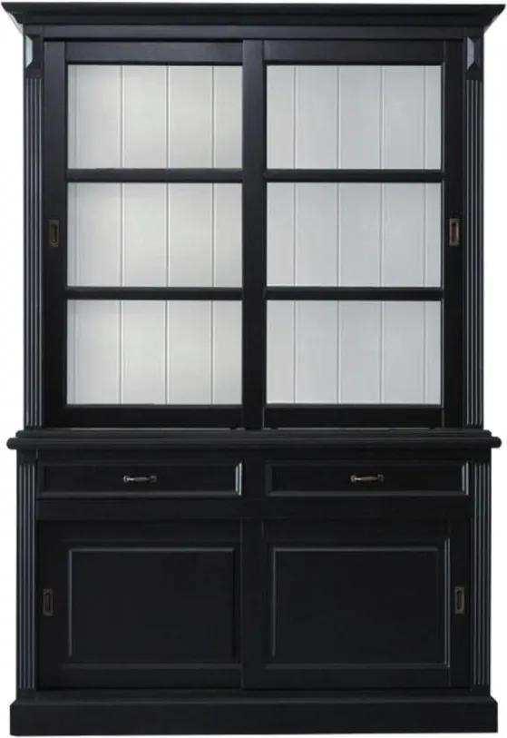 Bufet negru din lemn de pin 220 cm Provence HSM Collection