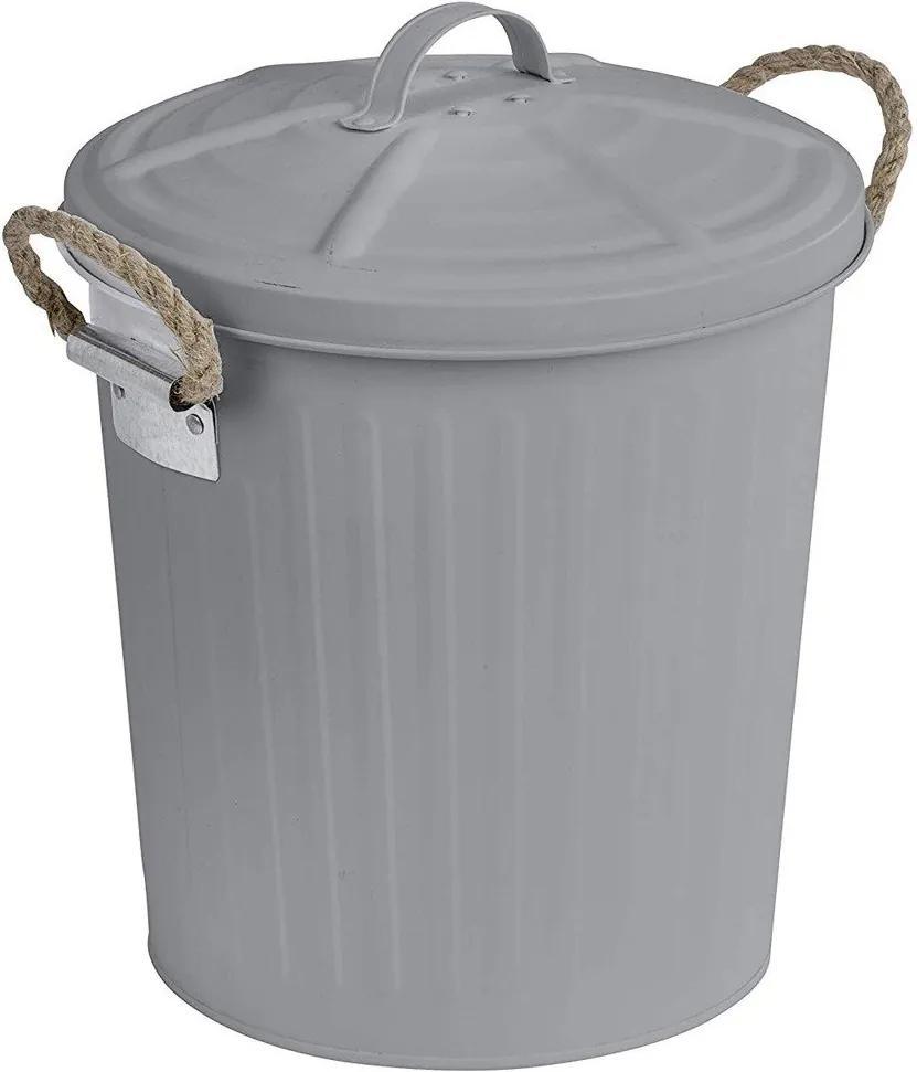 Coș de gunoi GARA, culoare gri cu capac, 6L, Wenko