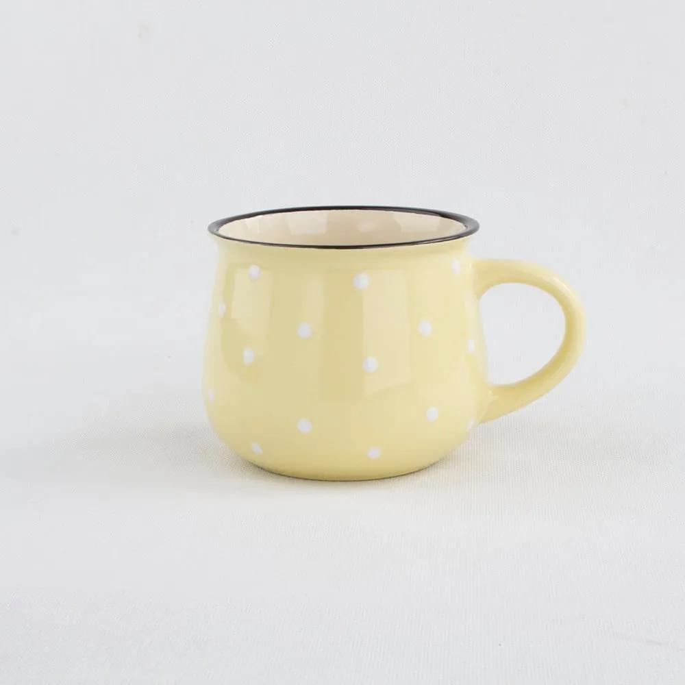 Cană din ceramică cu punte Dakls, volum 0,8 l, galben