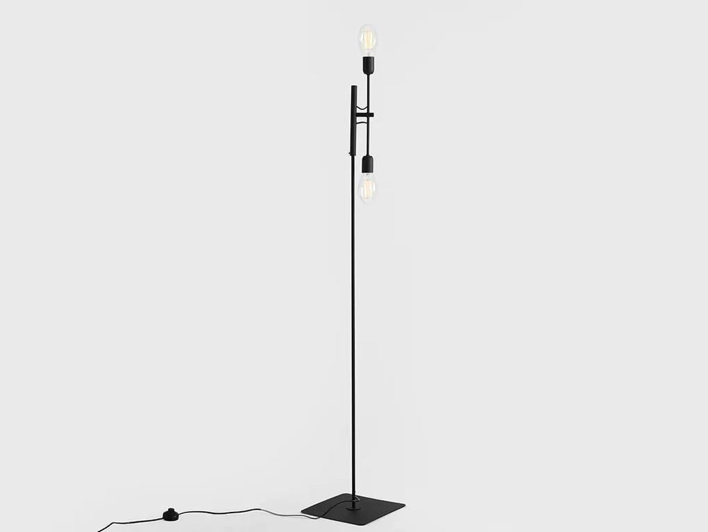 Lampadar Twigo 2 Black 43x160 CM, Custom Form
