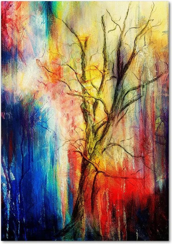 Tablou pe sticlă acrilică Copac abstract