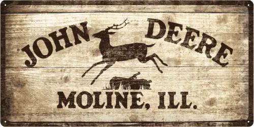 Placă metalică - John Deere (de lemn)