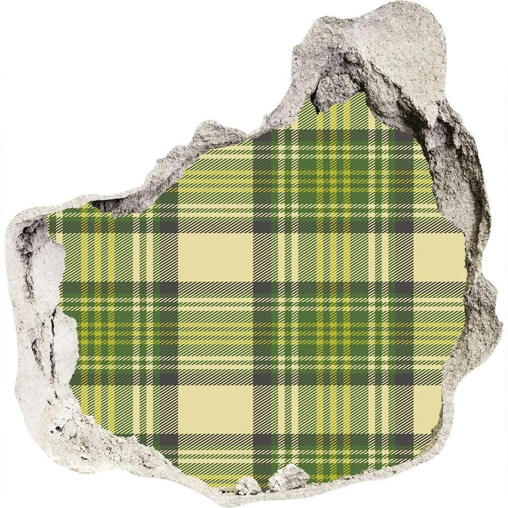 Autocolant un zid spart cu priveliște Grila verde
