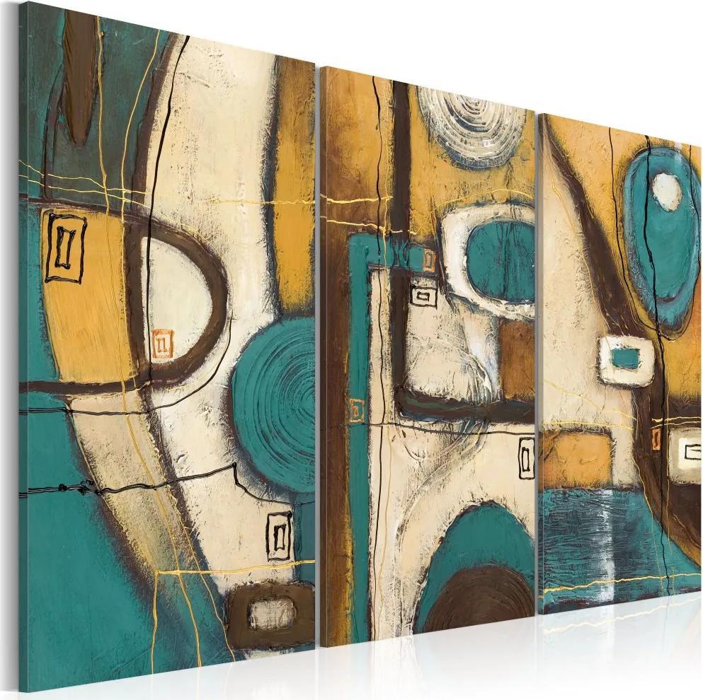 Tablou - Plan města 60x40 cm