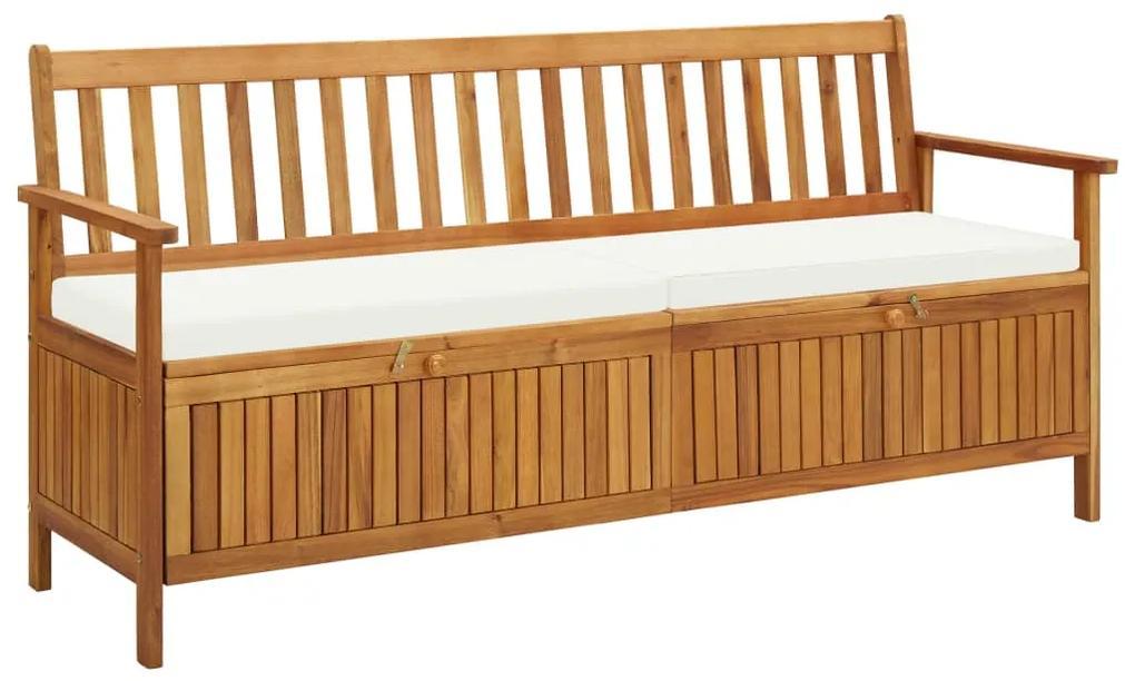 45912 vidaXL Bancă de depozitare cu pernă, 170 cm, lemn masiv de acacia