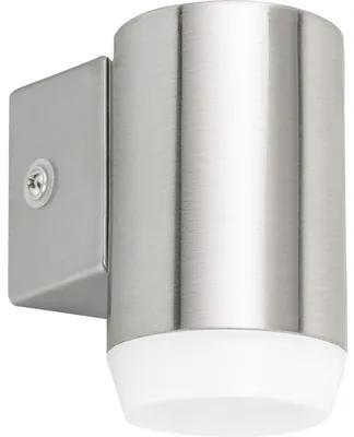 Aplica in jos cu LED integrat Catania 4W 350 lumeni, pentru exterior IP44, crom satin