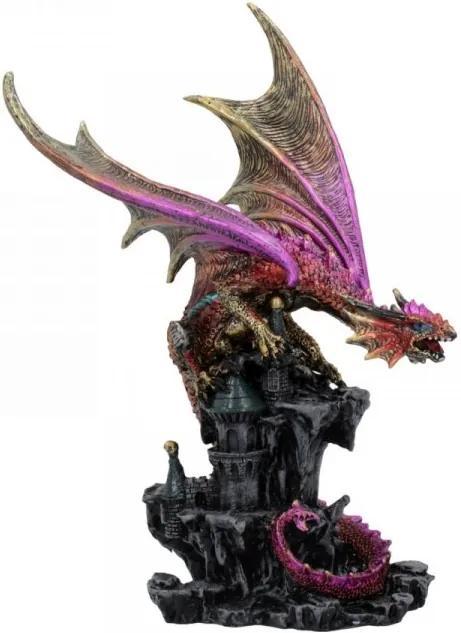 Statueta dragon pe castel Pastratorul Citadelei 23 cm