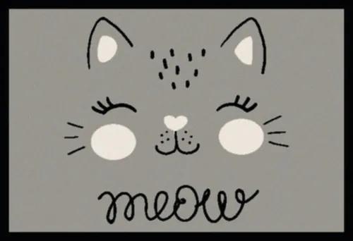 Covoras intrare Meow gri 40x60 cm