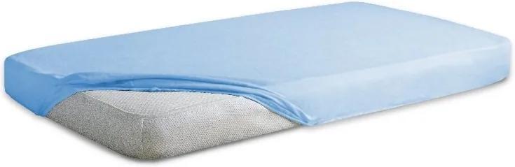 Cearceaf jerse din bumbac cu elastic 120x60 cm Blue 24