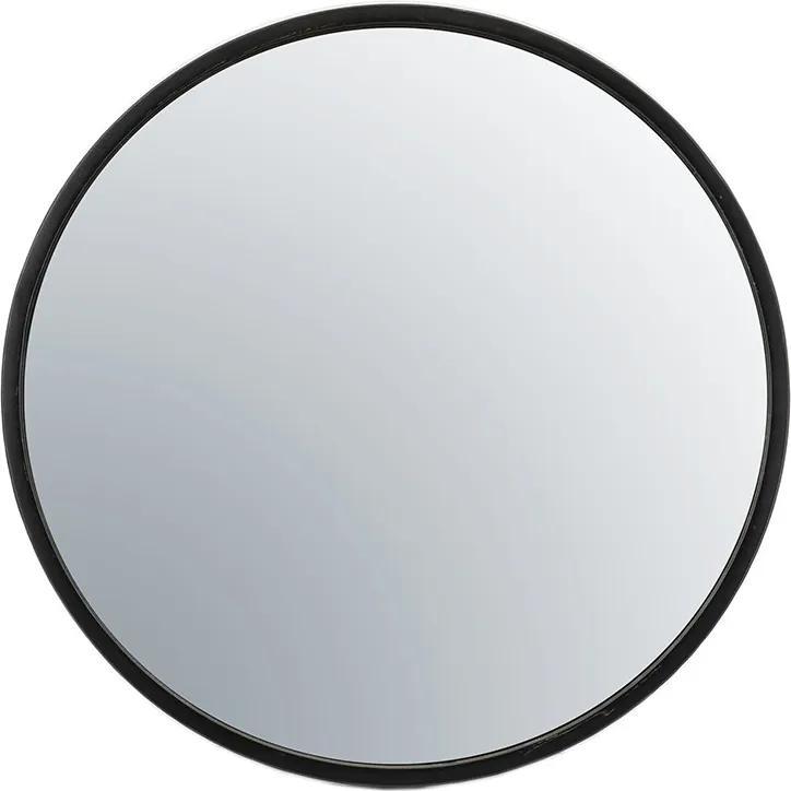 Oglinda rotunda cu rama neagra Selfie, 80 x 5 x 80 cm