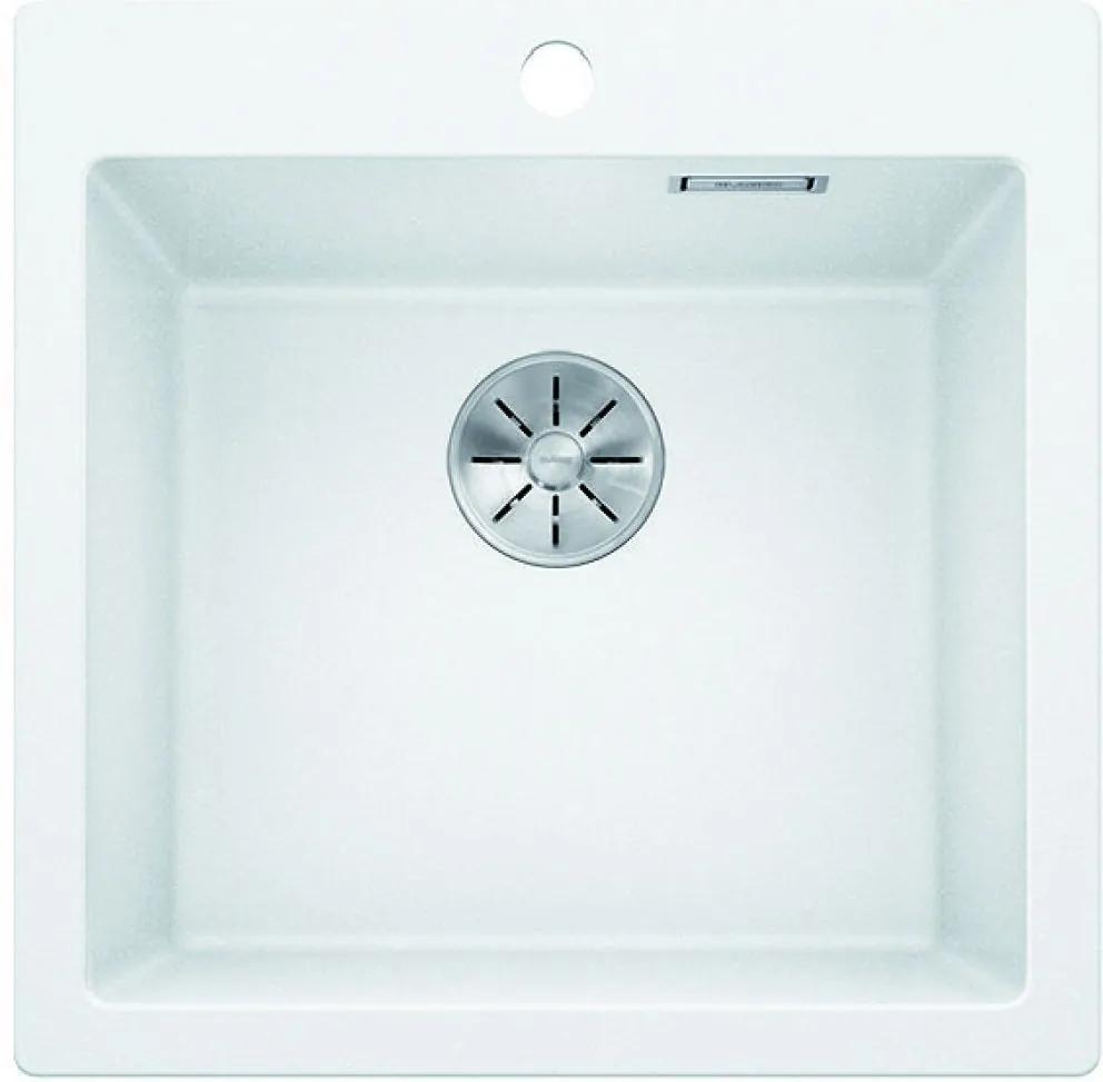 Chiuveta de bucatarie Blanco PLEON 5 silgranit, alb, 521672, 51,5 cm