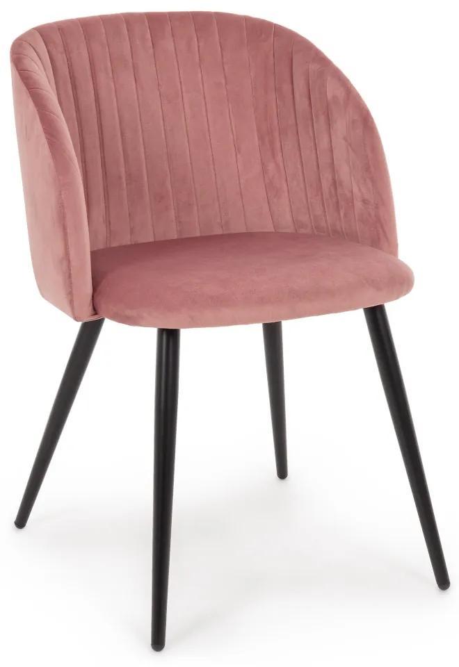 Scaun dining catifea roz Queen Blush Velvet