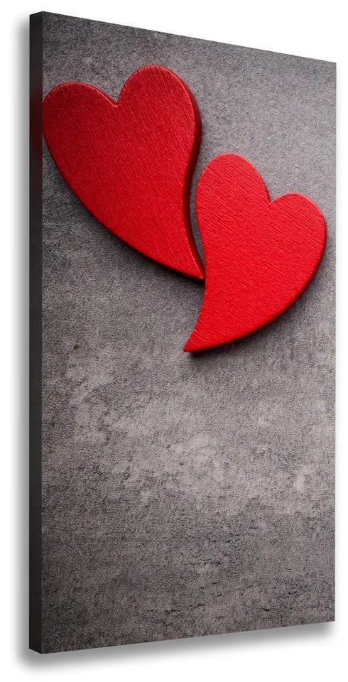 Tablou canvas Inimi roșii