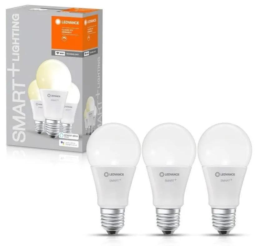 SET 3x Bec de iluminat cu LED SMART + E27/9,5W/230V 2700K - Ledvance