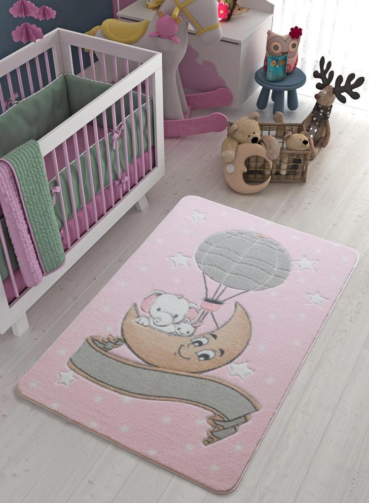 Covor pentru copii Moonlight Roz Deschis 100 x 150 cm