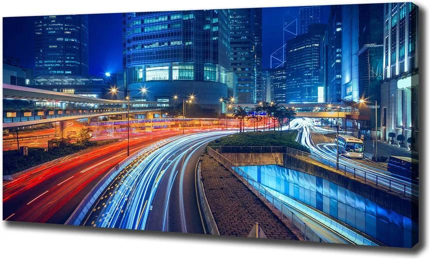 Tablou pe pânză canvas Hong kong pe timp de noapte