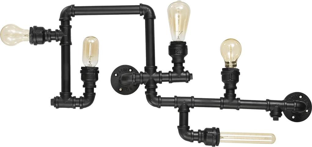 Lustra-Plafon-PLUMBER-PL5-NERO-136707-Ideal-Lux