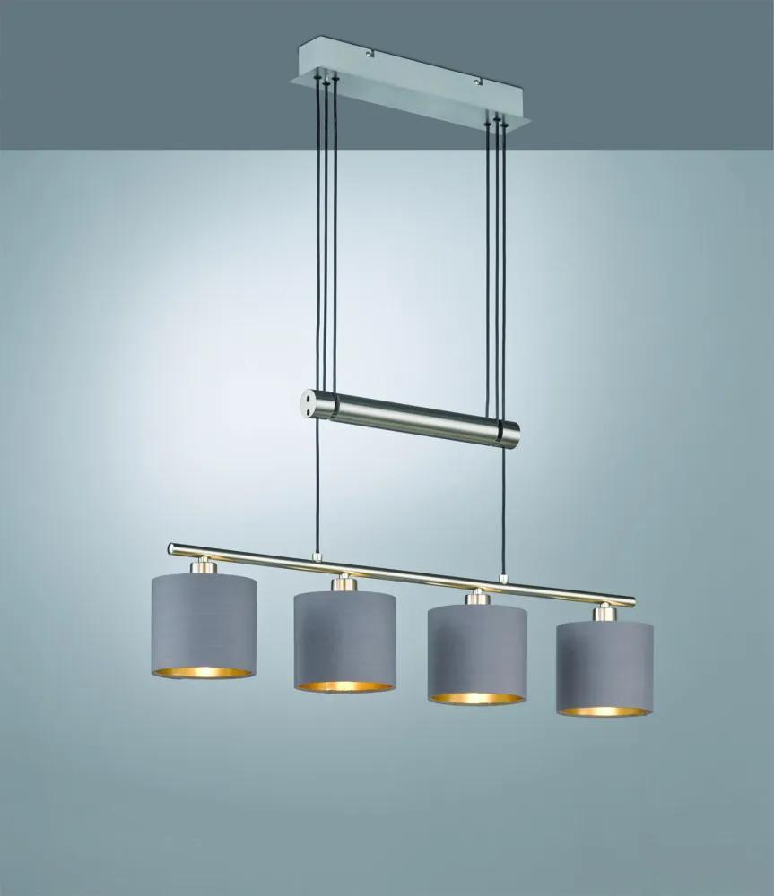 Trio GARDA 305400441 Lampi de sufragerie nichel mat excl. 4 x E14, max. 40W W:77cm, H:150cm