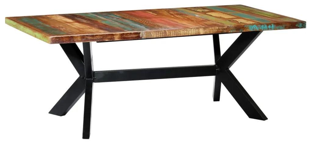 247429 vidaXL Masă de bucătărie, 200 x 100 x 75 cm, lemn masiv reciclat
