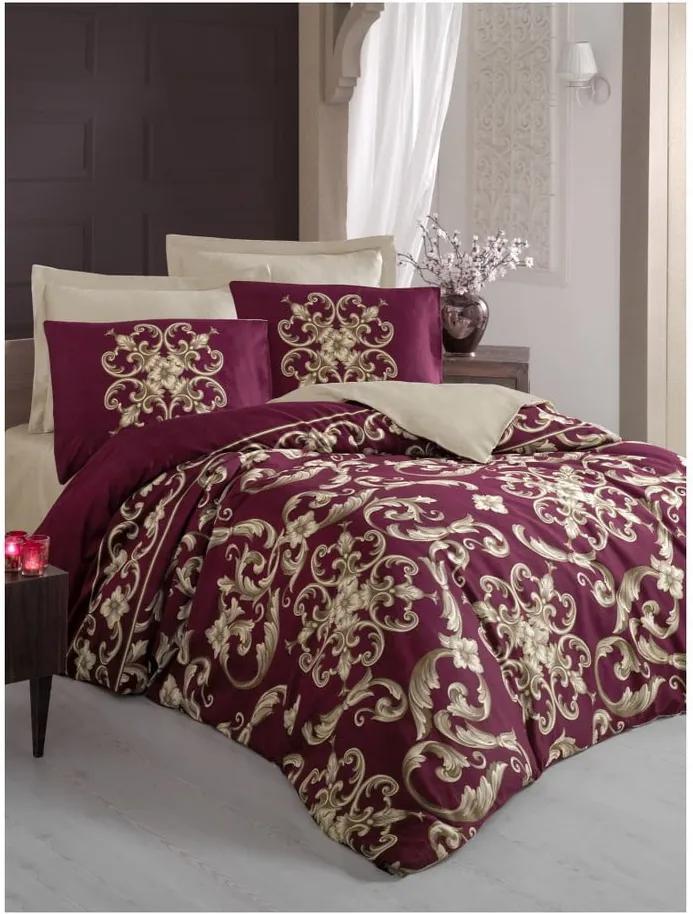 Lenjerie de pat și cearșaf pentru pat dublu Taylor, 200 x 220 cm
