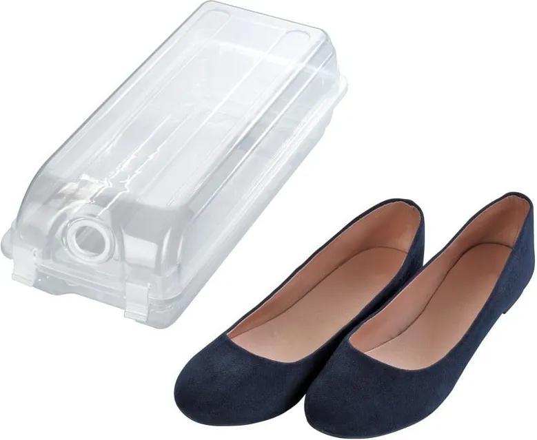 Cutie transparentă pentru depozitarea pantofilor Wenko Smart, lățime 14 cm
