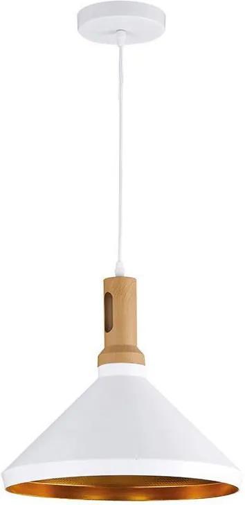 Solight WA011-W - LED Lustră 1xE27/10W/230V alb 35cm