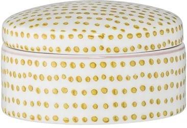 Recipient alb din ceramica 10x5,5 cm Edda Bloomingville