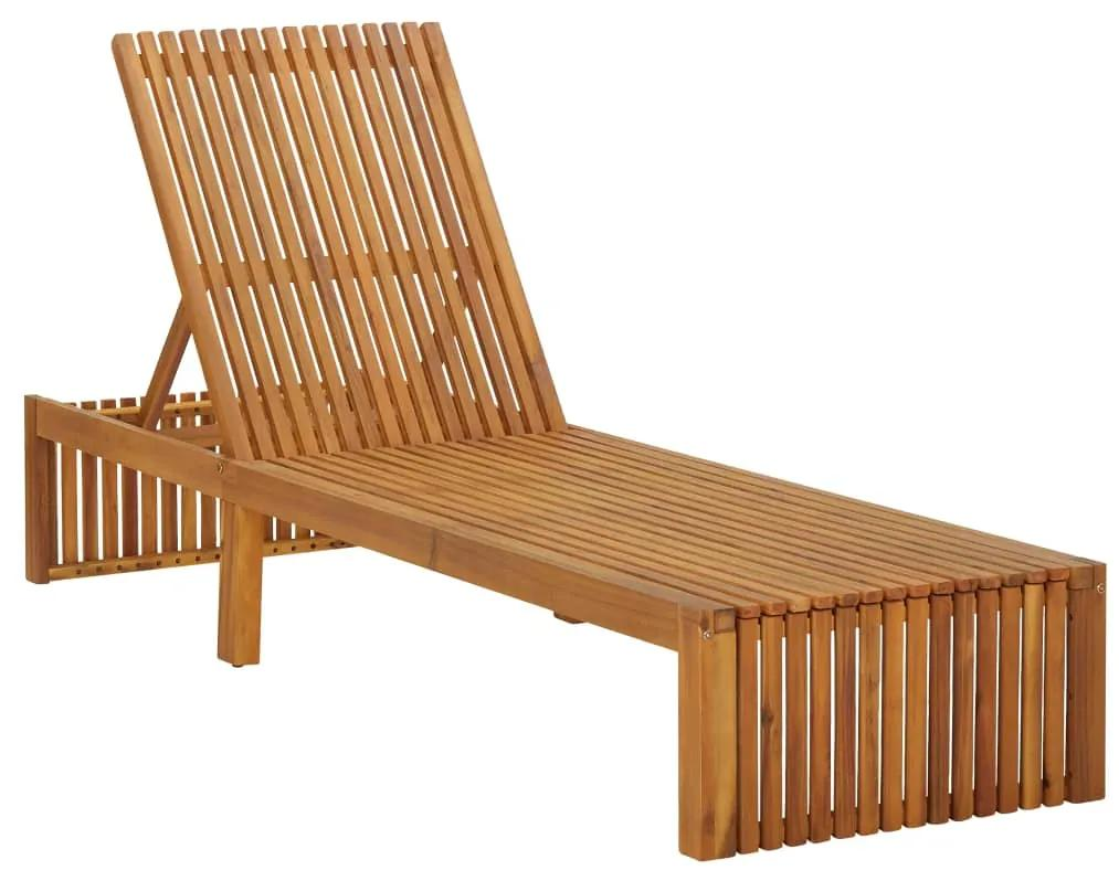 310317 vidaXL Șezlong de plajă, lemn masiv de acacia