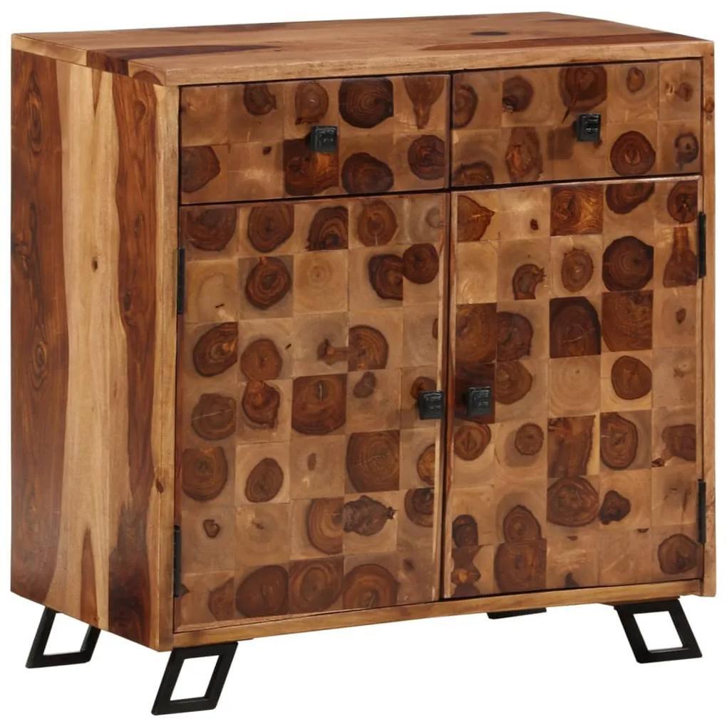 243966 vidaXL Servantă din lemn masiv de sheesham, 65 x 35 x 65 cm