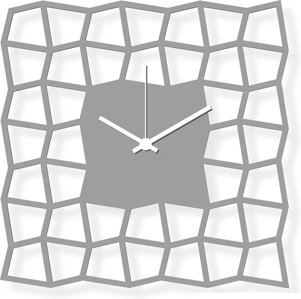 Ceas de perete de dimensiuni medii, sticlă acrilică gri 28x28 cm - NeoKubist   DSGN
