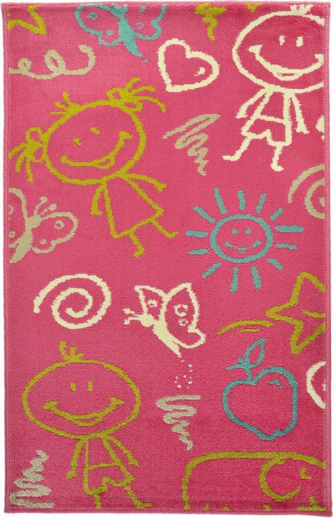 Covor Copii & Tineret Mosley, Roz, 67x120