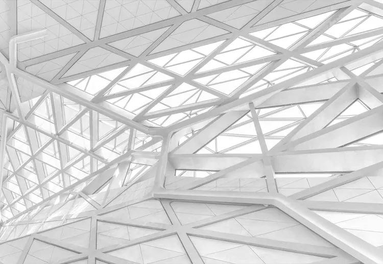 White Web Fototapet, (104 x 70.5 cm)