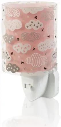 Lampa de veghe camera copii Clouds roz