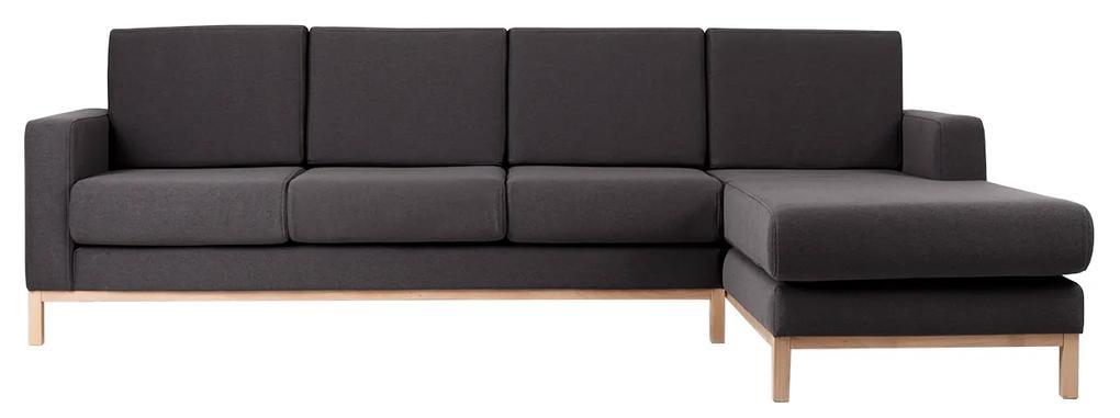 Canapea Scandic cu sezlong dreapta 3 locuri