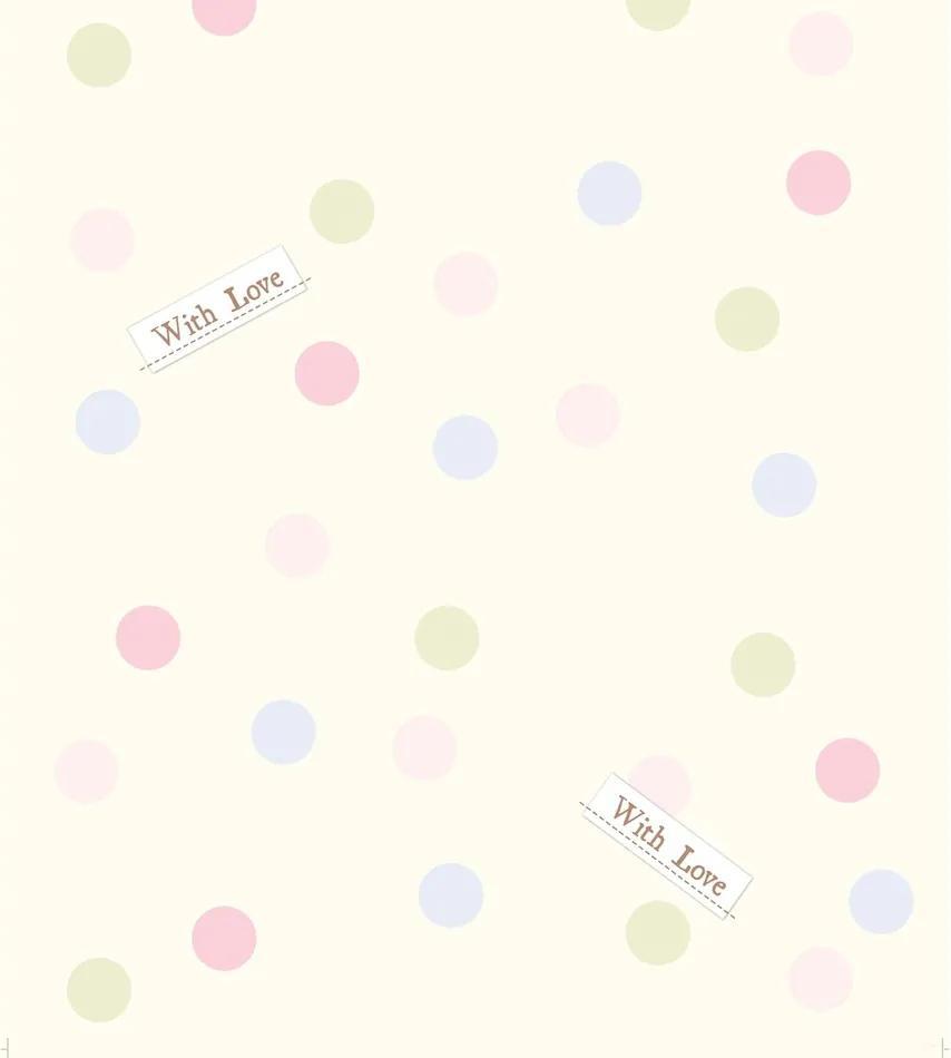 Fototapet de copii Dots with love, 53 x 1005 cm